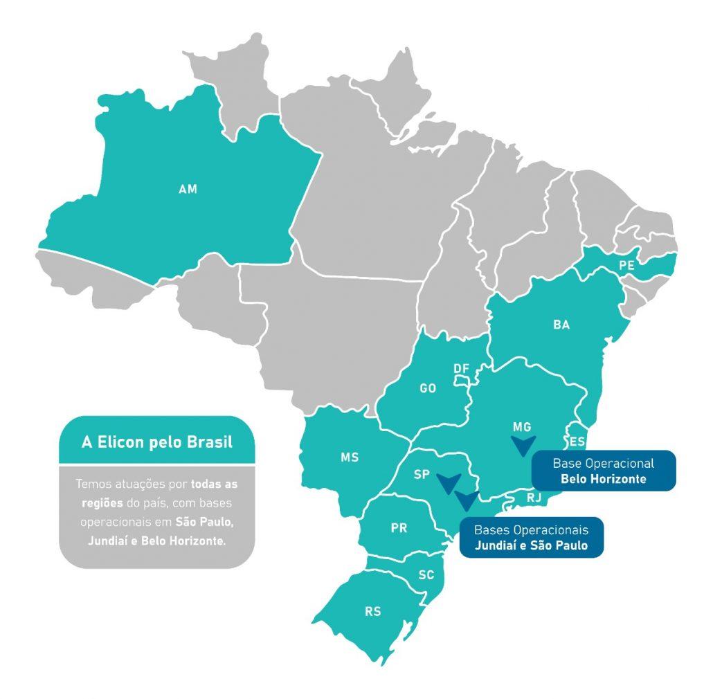Atuação Elicon Facilities no Brasil