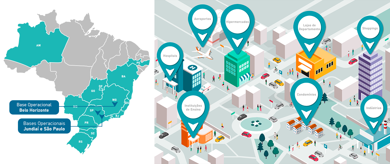 Atuação da Elicon Facilities no Brasil
